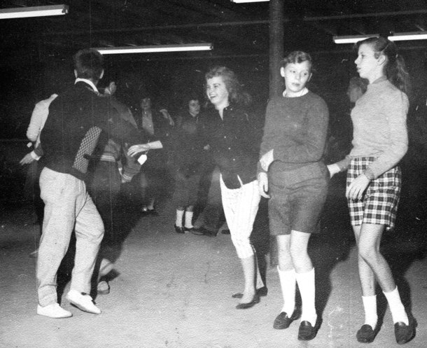 Betsy dancing as a teenager.
