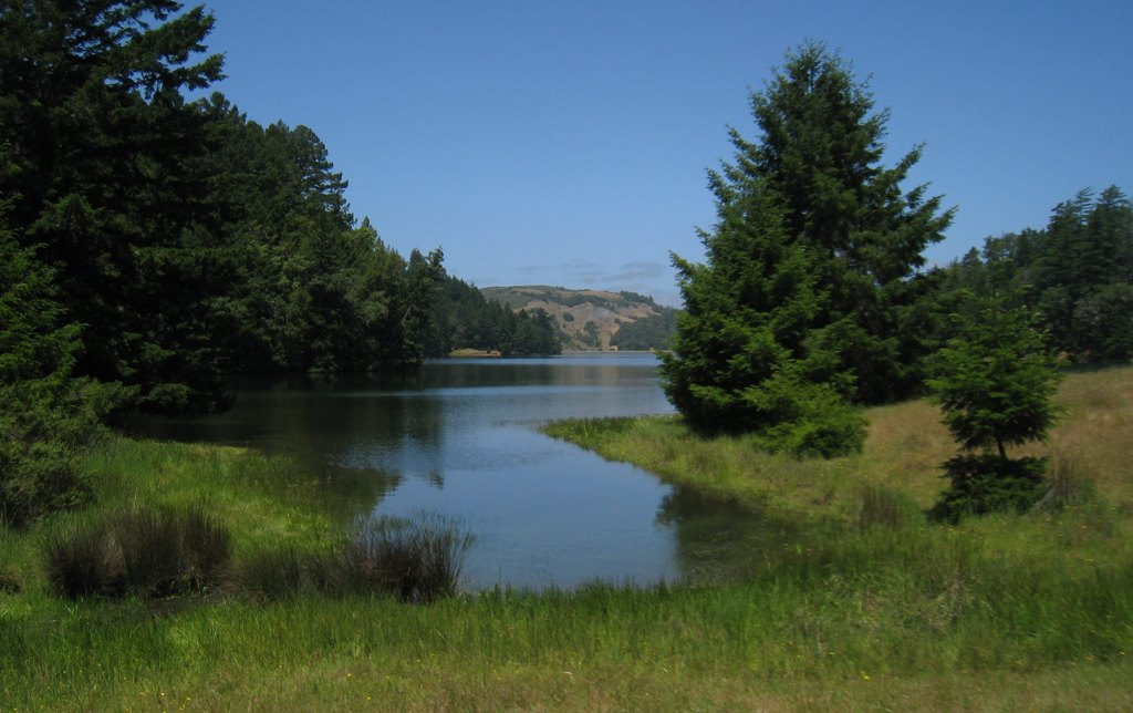 Bon Tempe Lake - View from the southwest shore along the trail